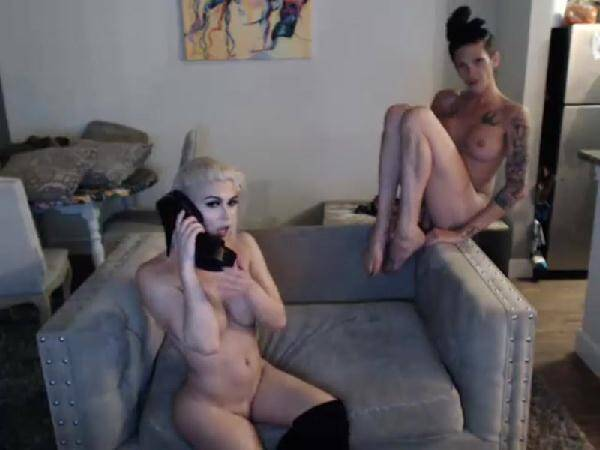Chaturbate.com - Morgan Bailey and Domino wabcam (shemale) [SD, 480p]