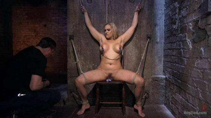 Big Tit Blonde MILF Bound, Tormented, and Made to Cum!! [Hogtied, Kink] 720p