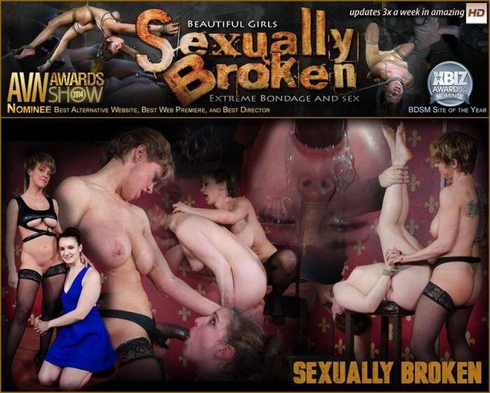 SexuallyBroken.com - Girl next door is bound, suffers rough sex from authentic BDSM couple. Brutal fucking and domination (BDSM) [SD, 540p]