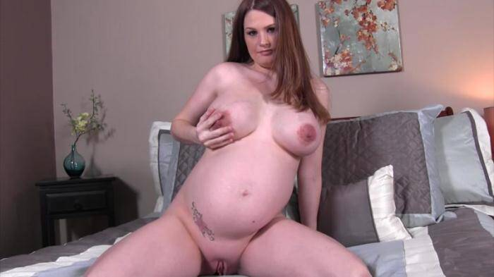 Allison Moore - Jerking to my pregnant whore of a wife (Pregnant) [HD, 720p]