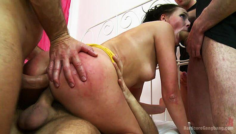 HardcoreGangBang.com: Russian Cutie Takes Two Dicks in the Pussy! [HD] (2.47 GB)