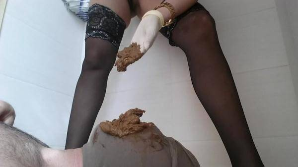 I stuff him full with my morning shit - Femdom Scat [FullHD 1080p]
