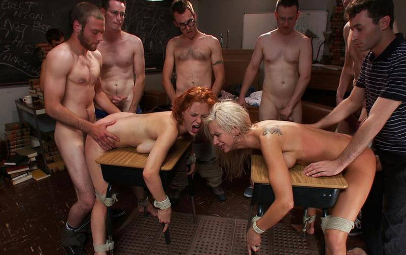 BoundGangBangs - Kaylee Hilton, Clayra Beau - Revenge of the Nerdz [2011 HD]