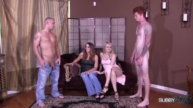 Subby Hubby - Natalia Starr & Paris Cock Compare BJ [FullHD]