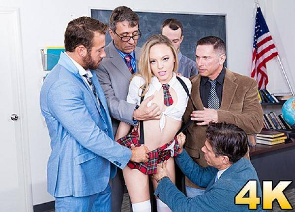 Pornostars - Aubrey Star Has A Horny Teachers Conference [SD, 558p]