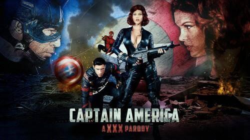 Peta Jensen - Captain America: A XXX Parody (SD, 480p) [Hardcore, Blowjob, Brunette]
