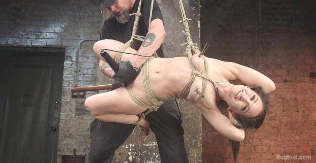 Hogtied - Petite Bondage Slut Gets her Holes Destroyed in Grueling Bondage [HD, 720p]