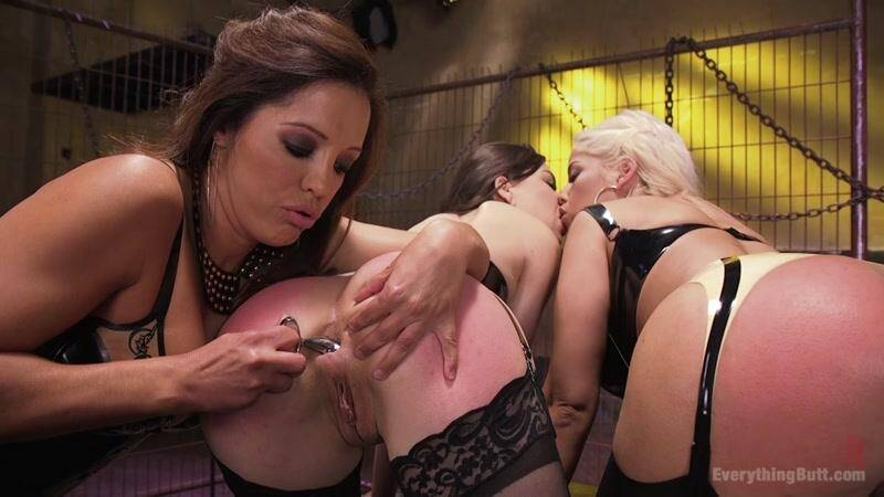 Everything Butt - Big Booty Latina pushes her Anal Boundaries for Everything Butt Fans (Anal Fisting / Bridgette B, Juliette March And Francesca Le / 19.04.2016) [HD]