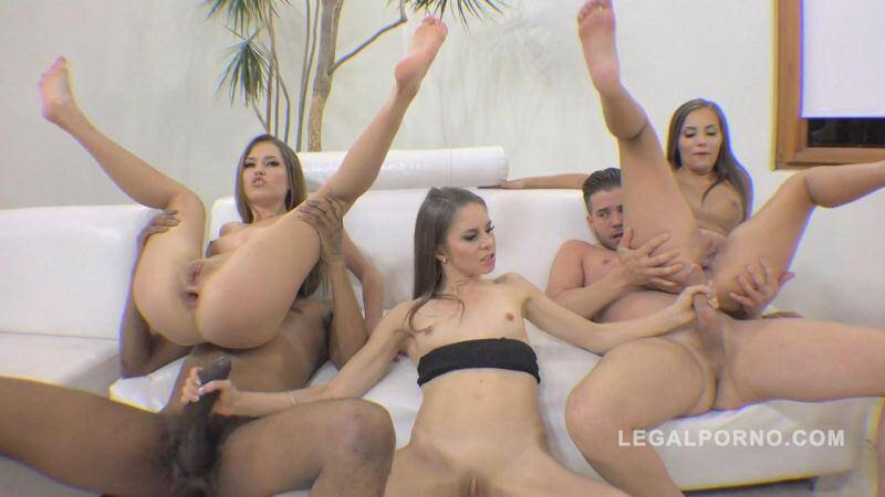 Legal Porno - Ginger Fox, Jenna Clarke, Maria Devine (Ginger Fox, Jenna Clarke & Maria Devine 100% anal fucking with winking assholes RS180 / Group Sex / 3 On 2 / 22.04.2016) [HD]