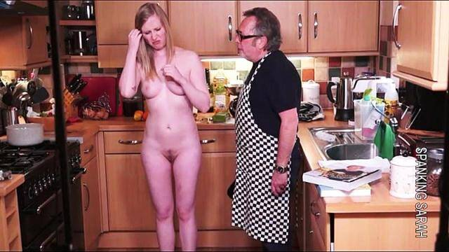 Spanking - Satine the cook book and fruit cake [HD, 720p]