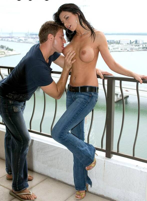 Pornmegaload: Karina O Reilley - Balcony Boning  [HD 720p]  (Public)