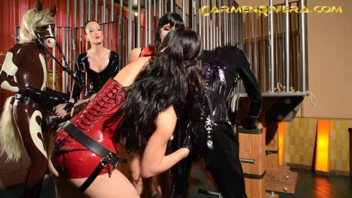 CarmenRivera.com - Horny Horse Power with Three Mistresses! (Strapon) [FullHD, 1080p]