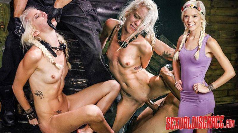 SexualDisgrace.com: Halle Von Sexual Disgrace Spanked Stupid [SD] (410 MB)