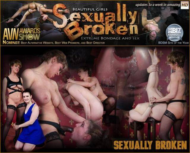 SexuallyBroken - Girl next door is bound, suffers rough sex from authentic BDSM couple. Brutal fucking and domination [SD, 540p]