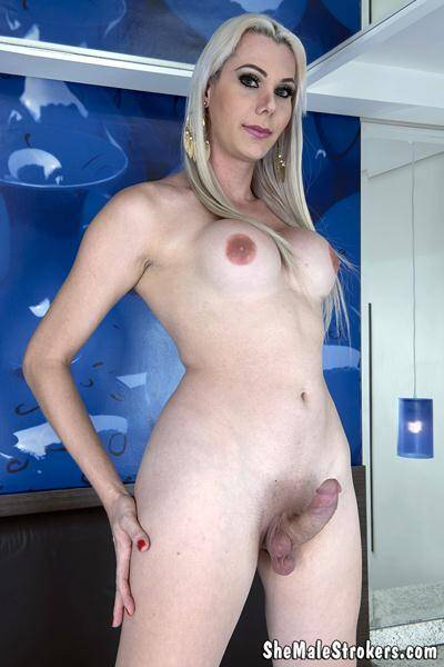 Gabriela Rodrigues - Blonde Brazilian Trans Girl Needs A Papi To Fill Her Up! [SheMaleStrokers] 1080p