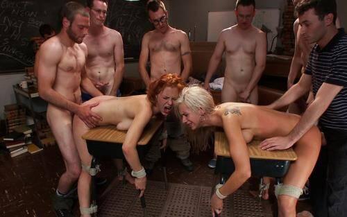 Revenge of the Nerdz - Kaylee Hilton, Clayra Beau (SiteRip/BoundGangBangs/HD720p)