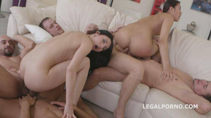 LegalPorno.com - Double Addicted on 4K, Krystal Greenvelle & May Thai DAP/CUMSWAPPING AND SWALLOW. Preview of the new GG style GIO171 (Group sex) [SD, 480p]