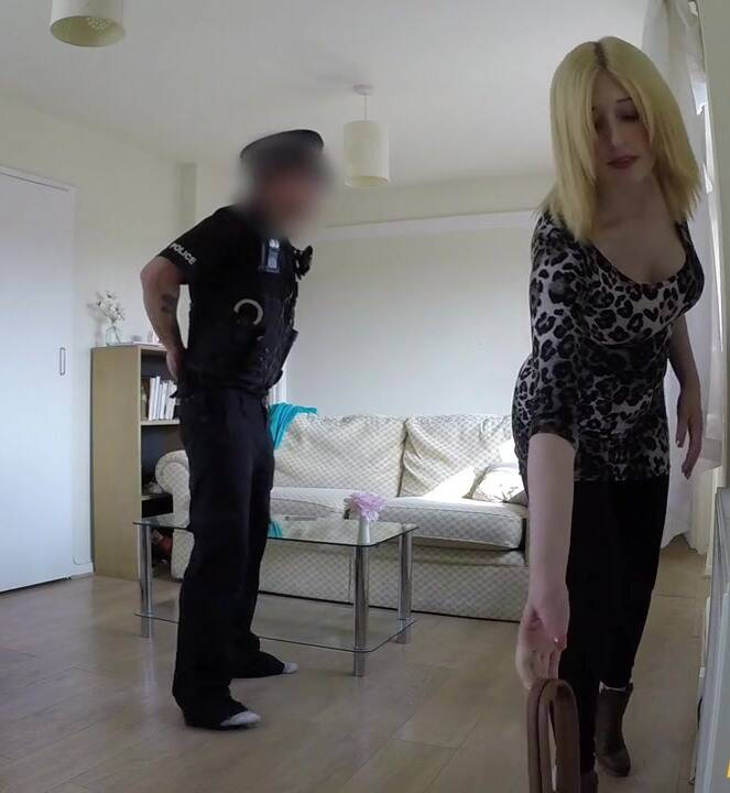 False Cop - Jessica - Slut Gets Fucked By Cop In Her Flat  [HD 720p]