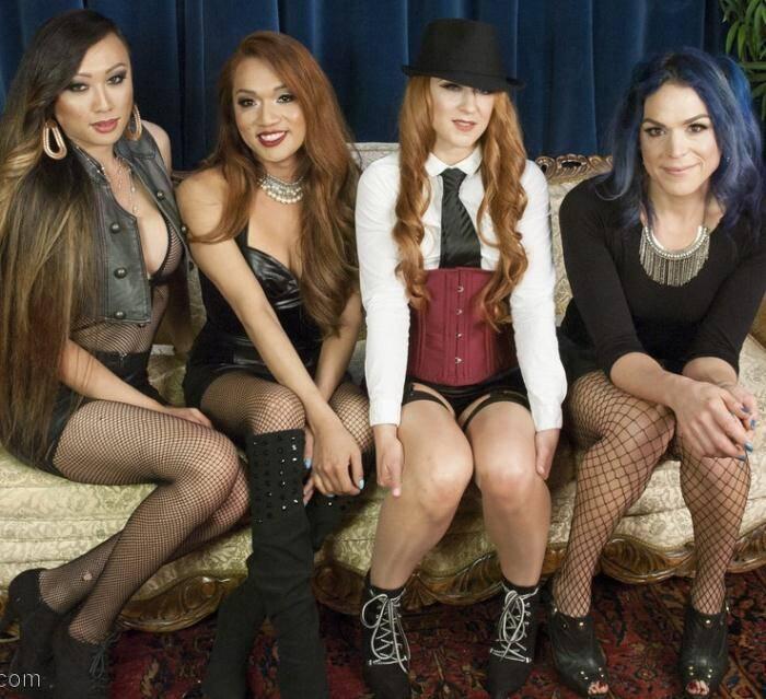 TSPussyHunters.com/Kink.com - Jessica Fox,Cheyenne Jewel,Kelli Lox, Venus Lux - Cheyenne Jewels first TS gang bang!!  [SD 540p]