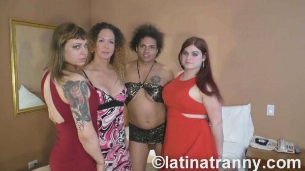 Nikki Montero, Tiffany Starr, Trixxie Von Tease, Morena Black - Annual California Orgy 2016 CUMSHOTS (Shemale on shemale) [HD, 720p]