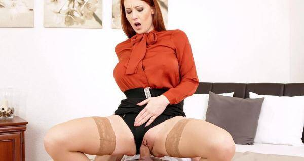 Ginger - Taking Their Time (SD, 540p) [Blowjob, Fully clothed sex, Pantyhose, Cumshot, Facial, Fully clothed, Pussy licking, High heels, Pussy eating, Blouse, Hardcore, Redhead]