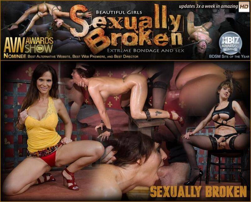 SexuallyBroken.com: Couger Syren De Mer is destroyed by cock, epic face fucking, rough sex and lesbian strap on! [SD] (167 MB)