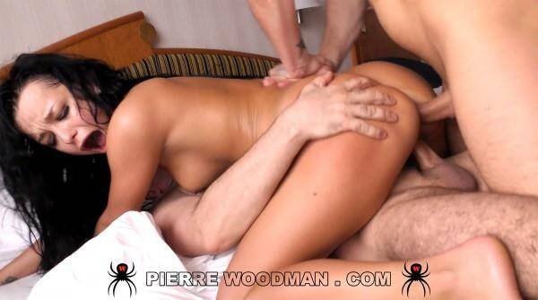 WoodmanCastingX.com - Daphne Klyde - Hard - Dped by 3 men (Group sex) [SD, 480p]