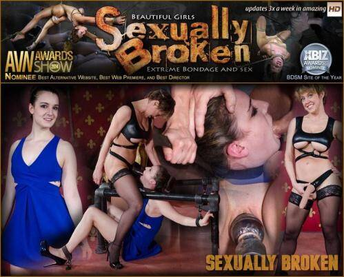 SexuallyBroken.com [Sexy Girl Next Door is brutally Throat fucked to the ground. Relentless face fucking and orgasms!] HD, 720p