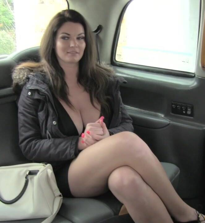 Sex in Taxi: Tasha - Big tits and sexy eyes takes cock  [HD 720p]  (Public)