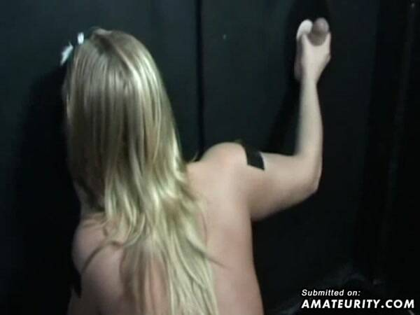 Masked Blonde Girlfriend Gloryhole Action [Home Porn] 480p