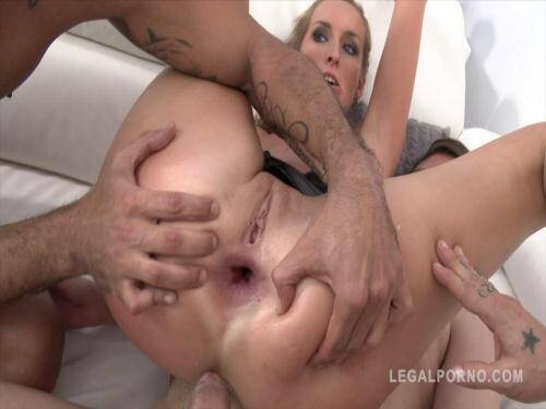 LegalPorno.com [Jenny Simmons takes 3 cocks in the ass at the same time (blonde slut triple anal) TAP/DAP SZ912] SD, 480p