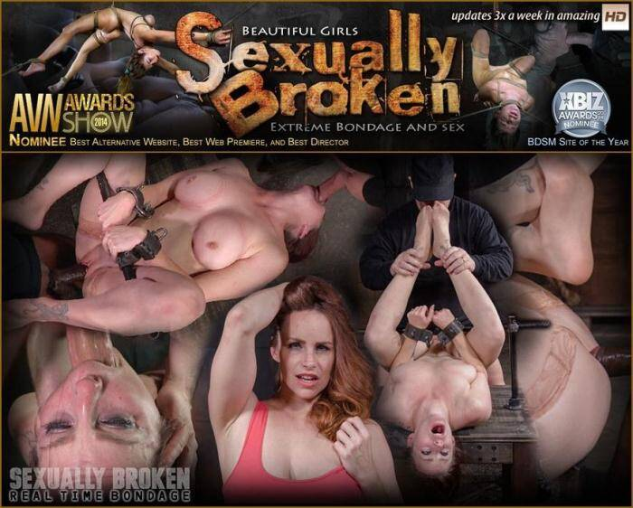 SexuallyBroken.com/RealTimeBondage.com - Busty Bella Rossi BaRS show grand finale with strict metal bondage and epic 3 cock dickdown! (BDSM) [SD, 540p]