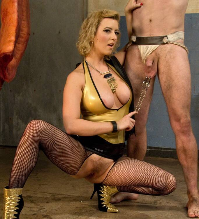 DivineBitches.com/Kink.com -  Cherry Torn - Pretty boy slave humiliated and pegged by Mistress Cherry Torn!  [SD 540p]