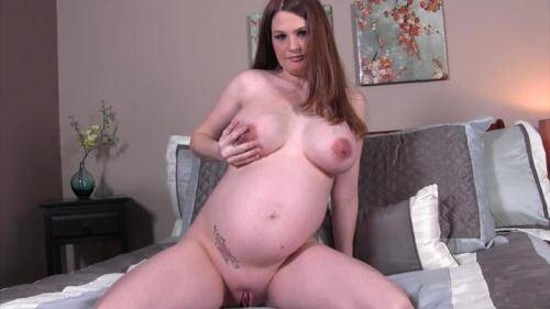 [Allison Moore - Jerking to my pregnant whore of a wife] HD, 720p