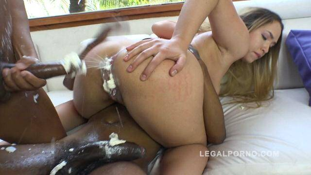 LegalPorno - Briana Bounce kreme farting asshole (interracial double anal (DAP) with cream) RS228 [SD, 480p]
