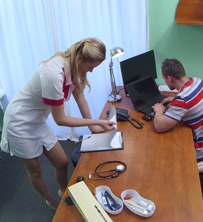 FakeHospital: Nikky, Joshua - Nurse Seduces Computer Technician  [HD 720p]  (Nurse, Hidden Camera)