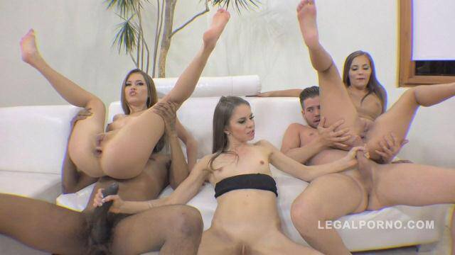 LegalPorno - Ginger Fox, Jenna Clarke & Maria Devine 100% anal fucking with winking assholes RS180 [HD, 720p]