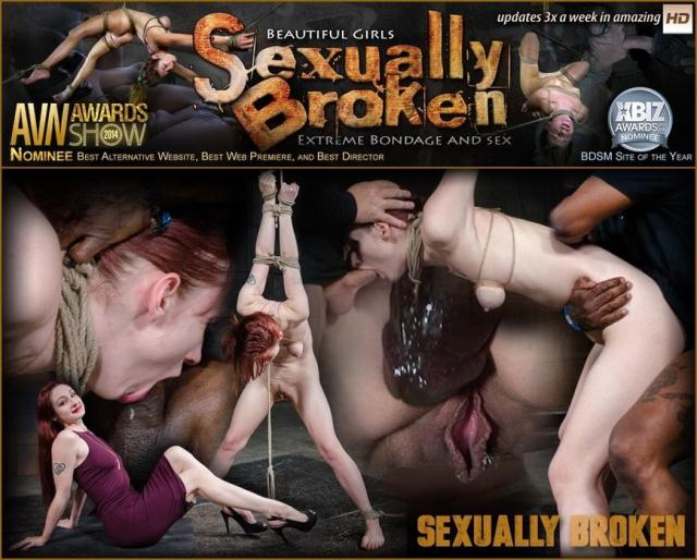 SexuallyBroken - Sexy Violet Monroe suffers in epic strapaddo, epic BBC deepthroat and brutal rough fucking! [HD, 720p]