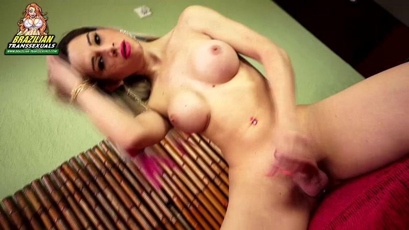 Brazilian Tranny - Natalia Castro Masturbation [HD]
