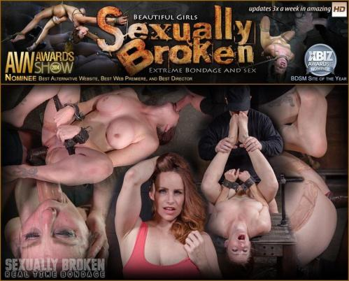 SexuallyBroken.com/RealTimeBondage.com [Busty Bella Rossi BaRS show grand finale with strict metal bondage and epic 3 cock dickdown!] SD, 540p)