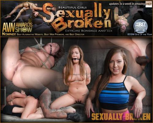 Maddy O'Reilly, Maestro, Jack Hammer - Redheaded Maddy O'Reilly is ball gagged, tightly tied and ragdoll fucked by two big dicks! [HD, 720p] [SexuallyBroken.com] - BDSM