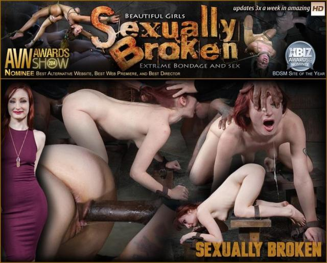 SexuallyBroken - Stunning starlet Violet Monroe restrained doggy style and dicked down into a drooling mess! [SD, 540p]