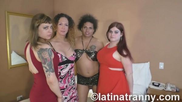 Transsexual - Nikki Montero, Tiffany Starr, Trixxie Von Tease, Morena Black - Annual California Orgy 2016 CUMSHOTS (26 Apr 2016) [HD]