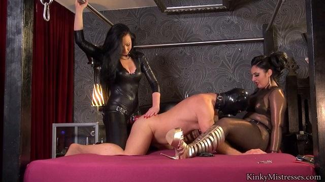 Kinky Mistresses - The used Strapon Slut - Anal Fuck with Strapon! [HD]