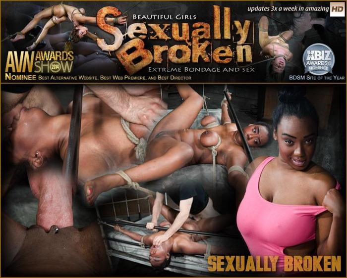 SexuallyBroken: Curvy Lisa Tiffian bound down in rope onto bed and roughly fucked by 2 cocks, epic BBC deepthroat! (SD/540p/169 MB) 13.04.2016