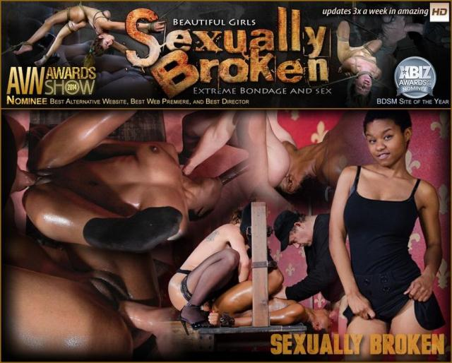 SexuallyBroken - Tiny Kahlista Stonem services a dominate couple. Brutal deepthroating, squirting orgasms! [HD, 720p]