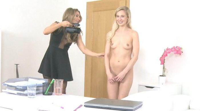 Agent Fucks Shy Blonde with Dildo 368p