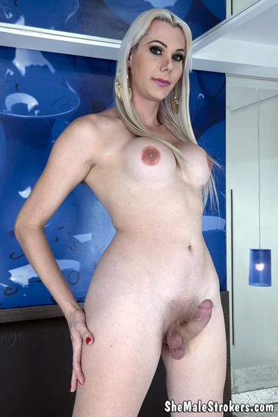 SheMaleStrokers - Gabriela Rodrigues - Blonde Brazilian Trans Girl Needs A Papi To Fill Her Up! [FullHD, 1080p]