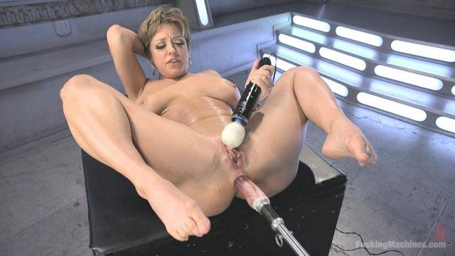FuckingMachines, Kink - Darling is Machine Fucked in Her Pussy and Ass with Squirting Orgasms! [HD, 720p]