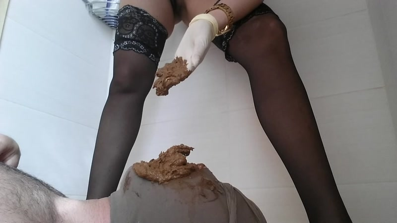 Scat - I stuff him full with my morning shit [FullHD]